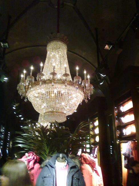 Abercrombie chandelier, in the new store on Sendlinger Straße