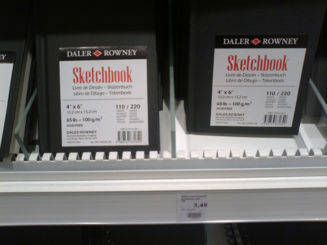 Forget Moleskine, Daler Rowney sketchbooks with premium paper for under 5 EUR