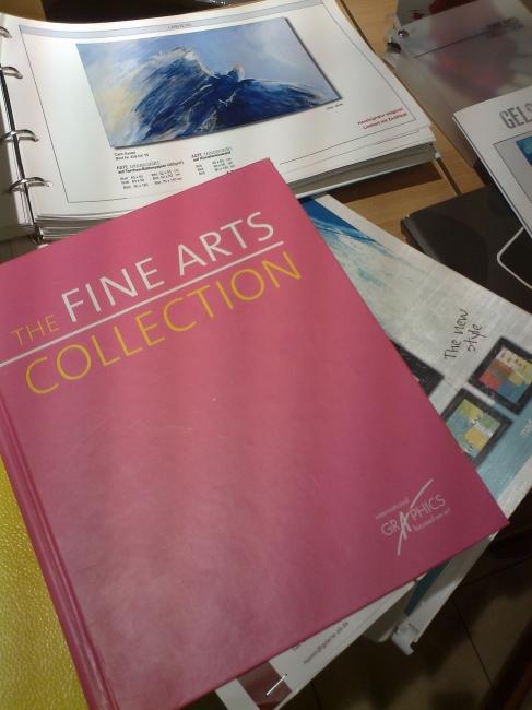 "The ""Fine Arts Collection"" art prints catalogue, seen at Karstadt art shop"