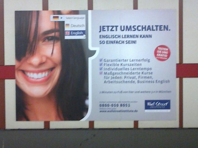 Jetzt Umschalten, Enlisch lernen in München
