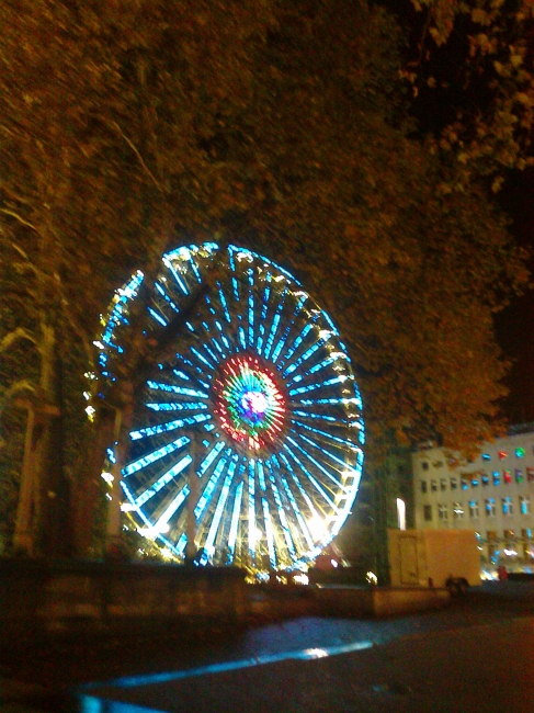 A giant Ferris Wheel in Essen,