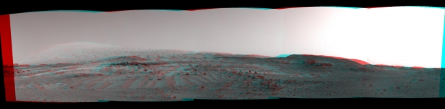 Scene From 'Artist's Drive' on Mars (Stereo), NASA's Curiosity Mars rover used its Navigation Camera (Navcam) to capture this view on April 11, 2015, during the 952nd Martian day, or sol of the rover's w...