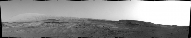 Scene From 'Artist's Drive' on Mars, NASA's Curiosity Mars rover used its Navigation Camera (Navcam) to capture this view on April 11, 2015, during the 952nd Martian day, or sol of the rover's w...