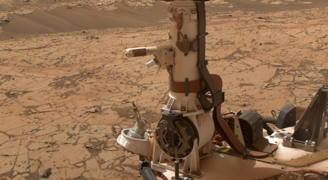 Mars Weather-Station Tools on Rover's Mast, The Rover Environmental Monitoring Station (REMS) on NASA's Curiosity Mars rover includes temperature and humidity sensors mounted on the rover's mast. One o...