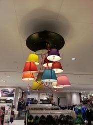 Designlampe im Kaufhof