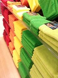 Grün Gelbe Handtücher