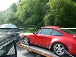Alter roter Porsche