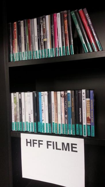HFF Hochschulfilme, Filme derzeitiger Studenten in der Bibliothek, Hochschule für Fernsehen und Film München
