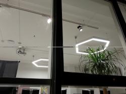 Hexagonale Lampen