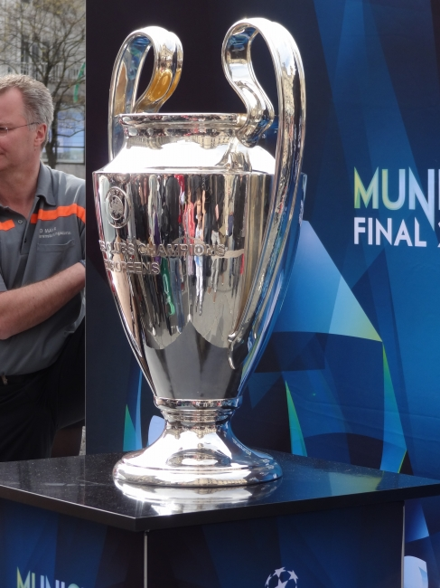 UEFA Trophy, on exhibition in Munich