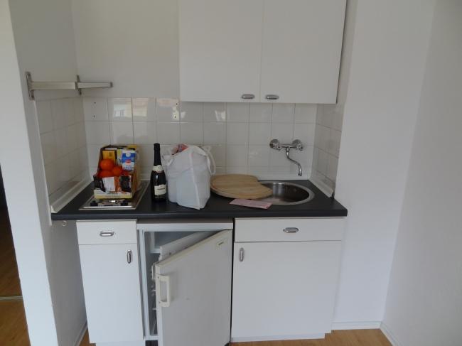 A small pantry kitchen,
