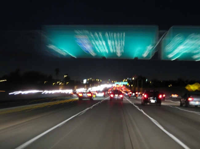Speeding to LAX airport,
