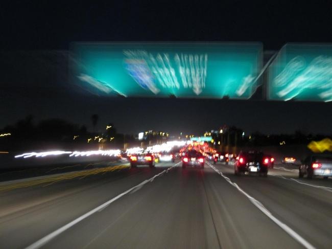 Speeding to LAX airport,