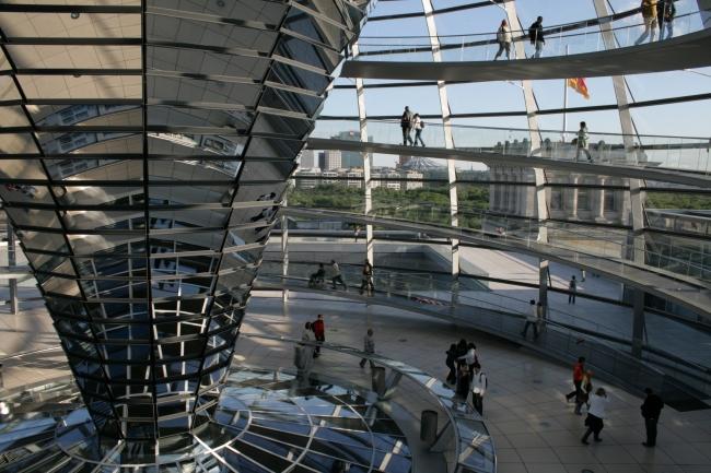In der Kuppel des Reichstags, Berlin