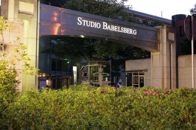 Eingang Studio babelsberg, nah,
