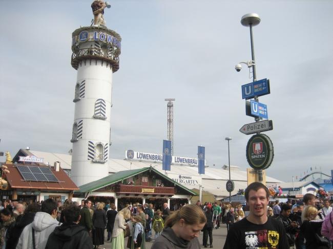 Turm vom Löwenbräu Zelt,