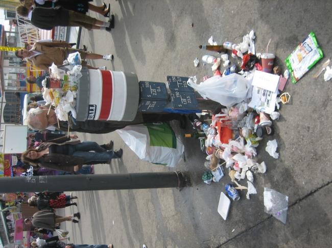 Müllproblem auf der Wiesn,