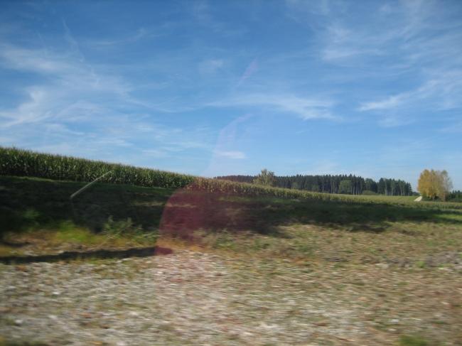 Ein Acker nördlich von München,