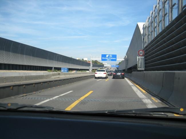 Autobahnzubringer nach München-Freimann, Ausfahrt 74