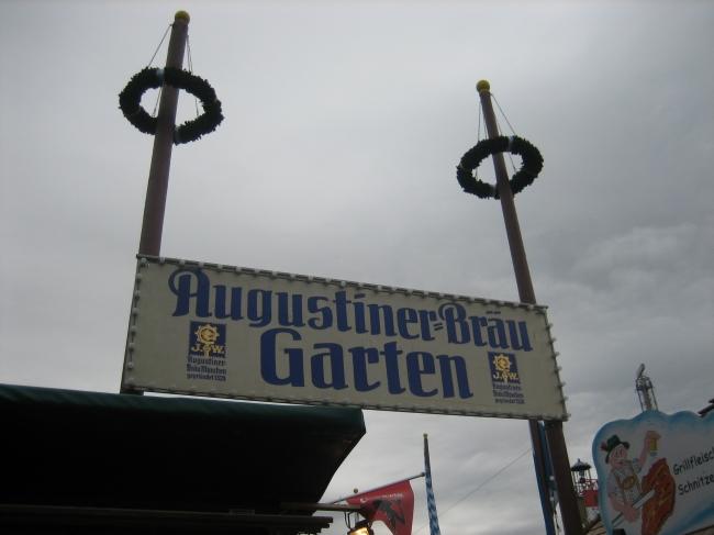 Augustiner Bräu Garten Eingang,