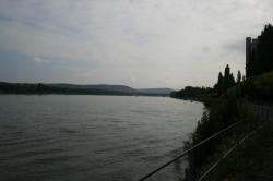 Der Rhein in Bonn mit ...