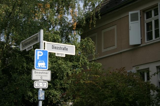 Schumannstraße Ecke Diezstraße in Bonn,