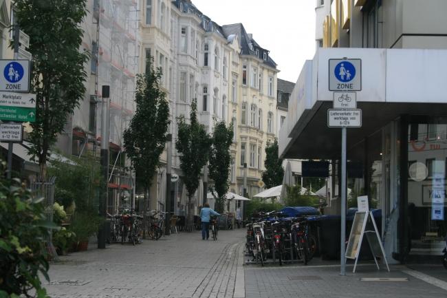 Einkaufsstraße in Bonn,