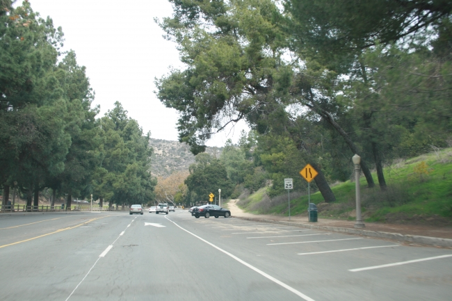 Parking lot on Griffith Park Road,