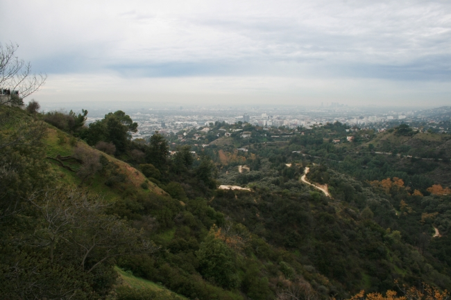 Foot of the Observatory hill in Griffith Park,