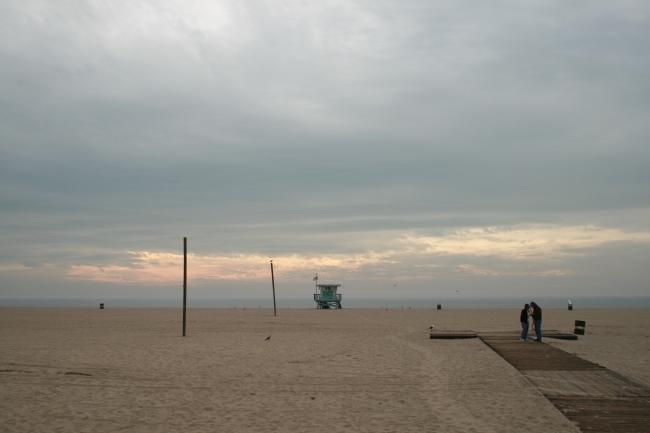 Evening on Los Angeles beach,