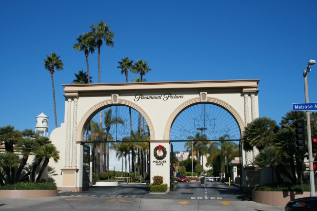 "Paramount Pictures Lot on Melrose Avenue, ""Melrose Gate"","