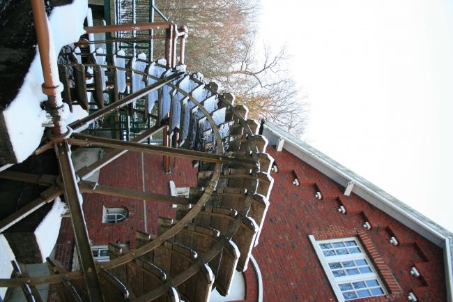 Mühlrad am Rotbachsee, Dinslaken, Ruhrgebiet, Nordrhein-Westphalen