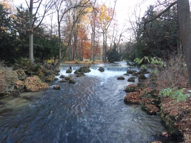 Wasserfall im Englischen Garten,
