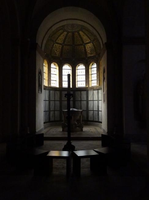 St. Benno Erker mit Taufbecken, Maxvorstadt München