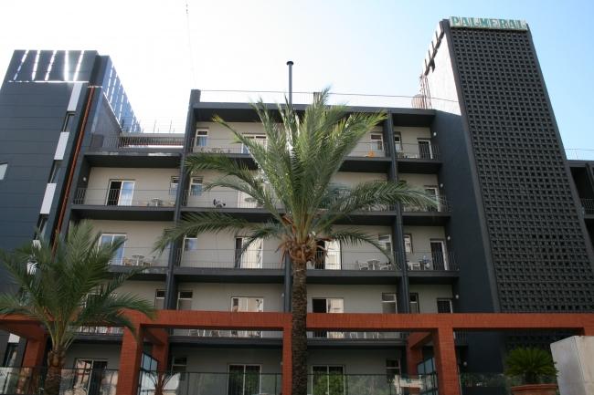 Hotel El Palmeral, von hinten, von der Calle de Santander