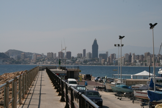Harbour dam of the port of Benidorm,