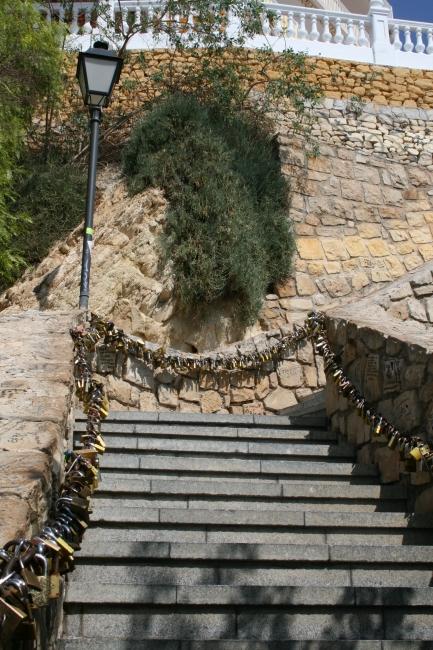 Liebesschlösser, Escalera de los candados