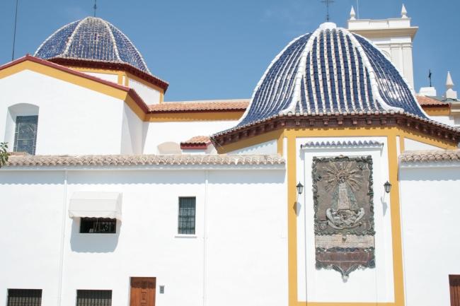 Blue tile roof of the Castel de Benidorm,