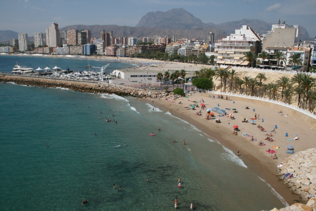 Playa de Mas Pal from the Castel,