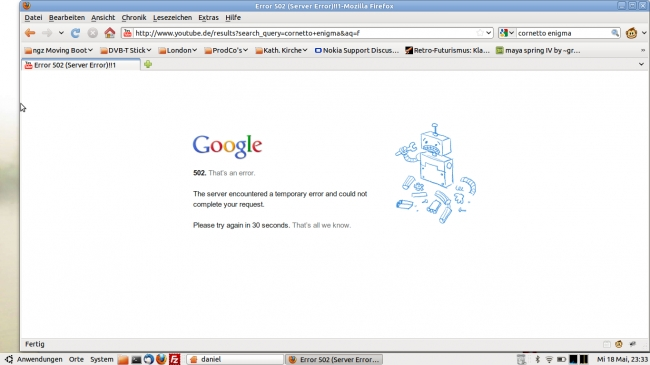 Google error 502,