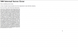 YouTube error 500