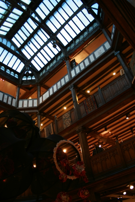The central hall of Liberty, A modern department store would have its escalators here, Liberty does it different