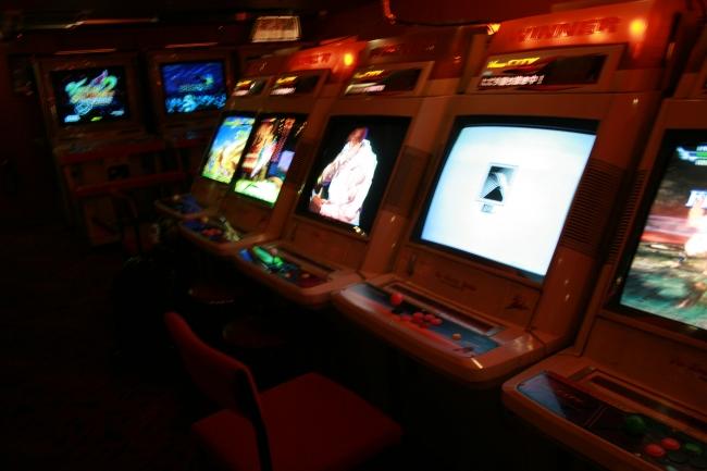 Sega NAOMI JAMMA cabinets, at Trocadero Arcade