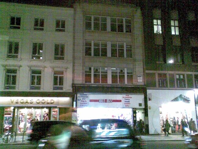 Lower Oxford Street upper level empty space,