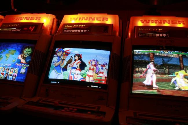 Sega cabinets, at Trocadero Arcade