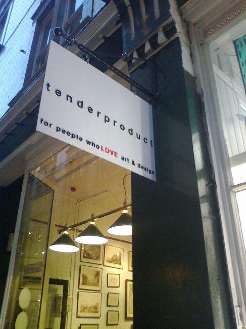 "tenderproduct window, ""for people who love art & design"""