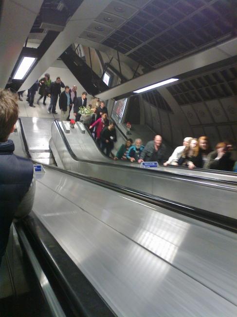 Tube escalators,