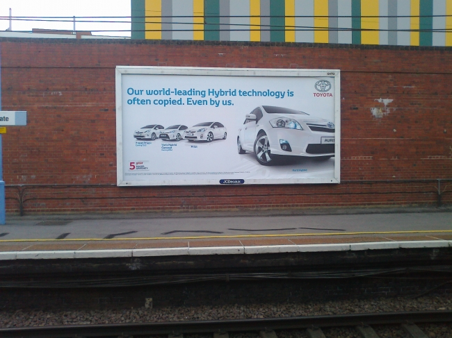 "Toyota ad: ""Our world-leading Hybrid technology is often copied..."","