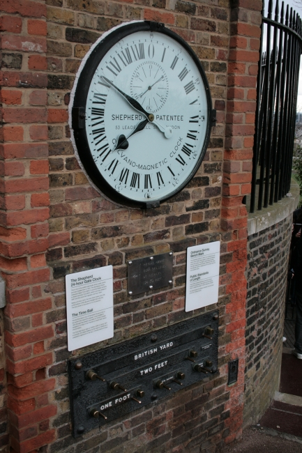 The Shepherd 24-hour Gate Clock, with the time ball behind (off frame)