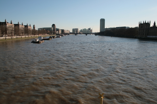 Southern Thames from Westminster bridge,